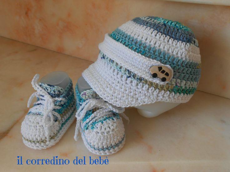 Easy Crocheted Newborn Baby Hat amp Booties  AllFreeCrochetcom