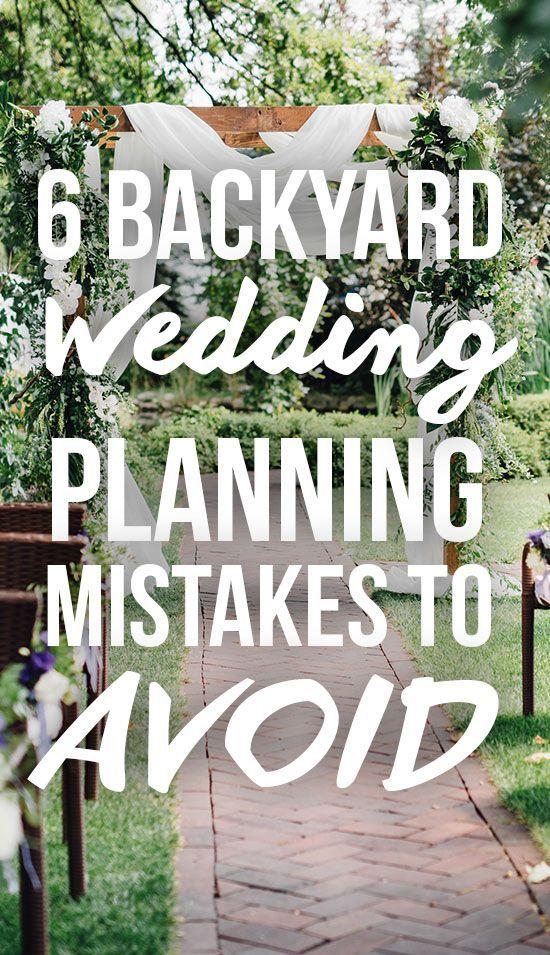 Sie können eine schöne Hochzeit direkt in Ihrem Garten haben. Vergessen Sie nicht, d …   – Backyard Wedding
