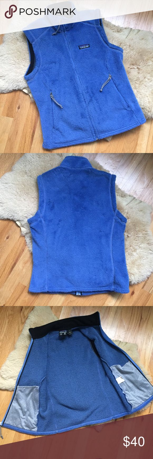 Patagonia fleece vest Warm blue fleece vest from Patagonia  . In very good used condition.  Has light matting of the fleece at the zipper Patagonia Jackets & Coats Vests