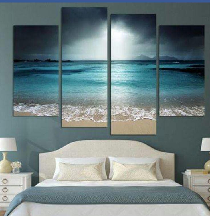 mooi schilderij en mooie kleur wand