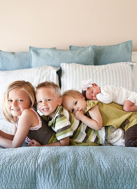 sibling photos, easier way to stack them without making it too high since they're all fairly little.