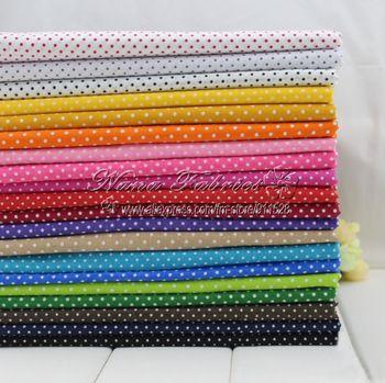 """Бесплатная доставка! 40 шт / много 20 Цвет Смешанная горошек Лоскутные одеяла Хлопок Ткань модели - 20x30 см / 7.9 """"x11.8"""""""