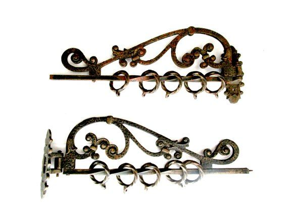 Swivel Curtain Rods Rotating Curtain Arms With Rings Mounting