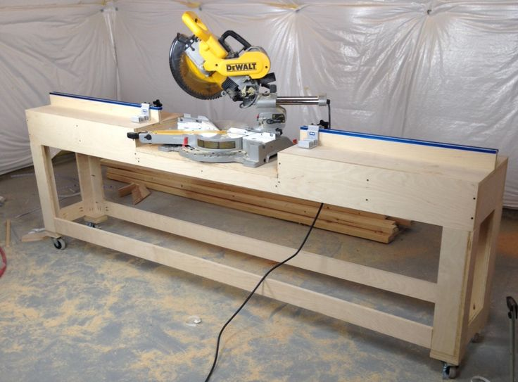 miter saw stand Woodworking Jigs Pinterest