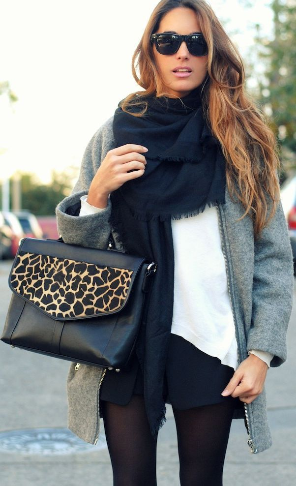 #street #style / panther print + gray