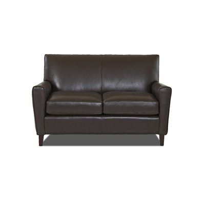 Wayfair Custom Upholstery™ Gormley Leather Loveseat   – Products