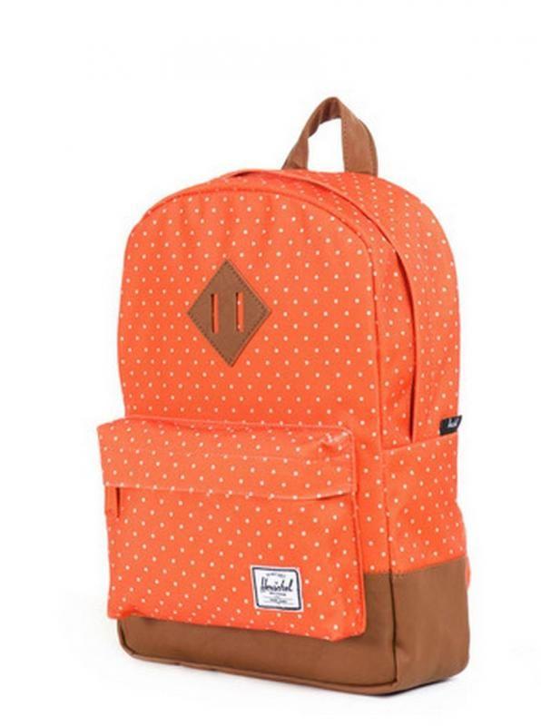 Hershel supply toddler backpacks   orange polkadot