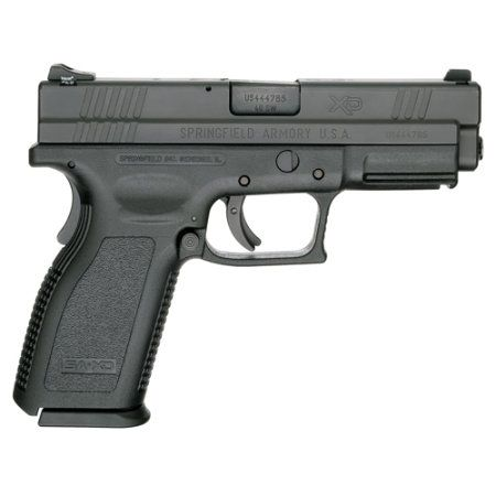 Springfield XD .40; my favorite handgun. Fits me like a glove and works flawlessly.
