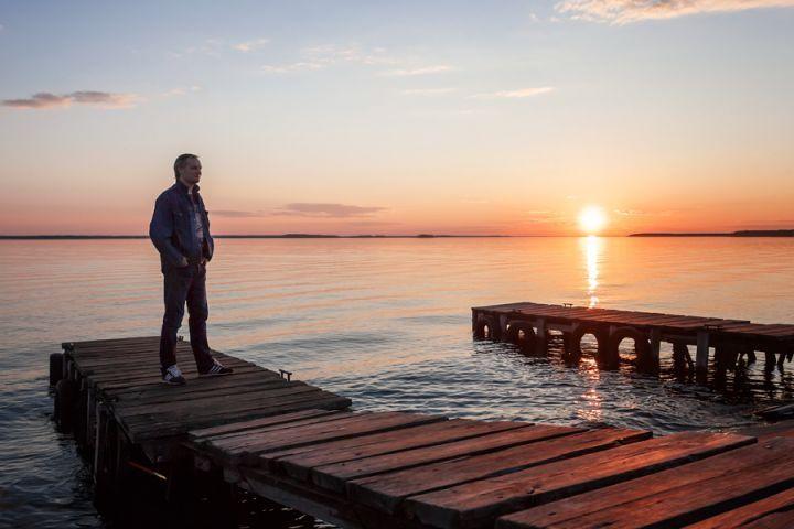 Портрет на фоне заката.(2)