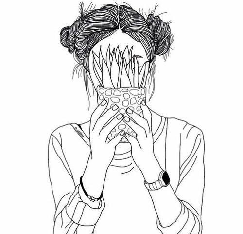 Image via We Heart It https://weheartit.com/entry/172875703 #grunge #outline #plant #sketch #watch #spacebuns #@o.utlins #@ma.ixx