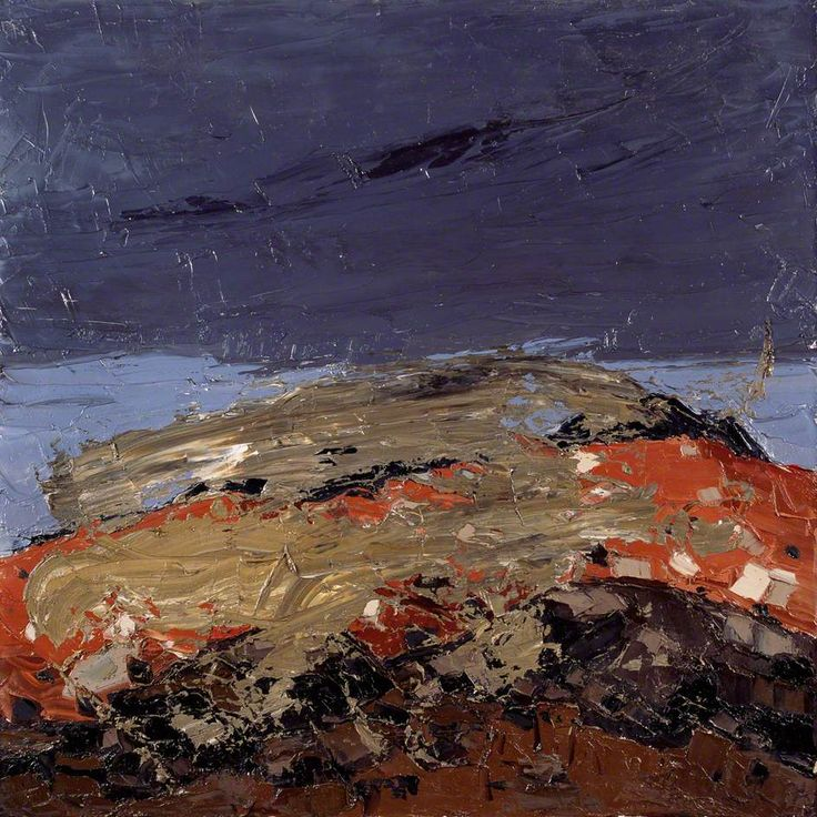 "Kyffin Williams ""Patagonian Landscape"" 1969 (?) Oil on canvas, 65 x 65 cm"