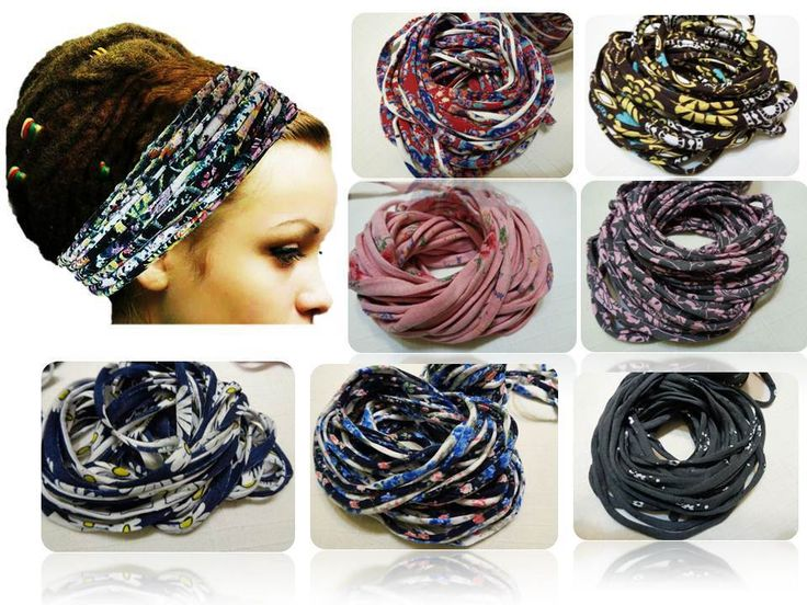 Dreadlocks Headband Dreadlock accessories Multistrand Head scarf Hair Band Tube #Handmade #Headwrap