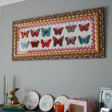 12 Bright Butterflies Long Cross Stitch Kit