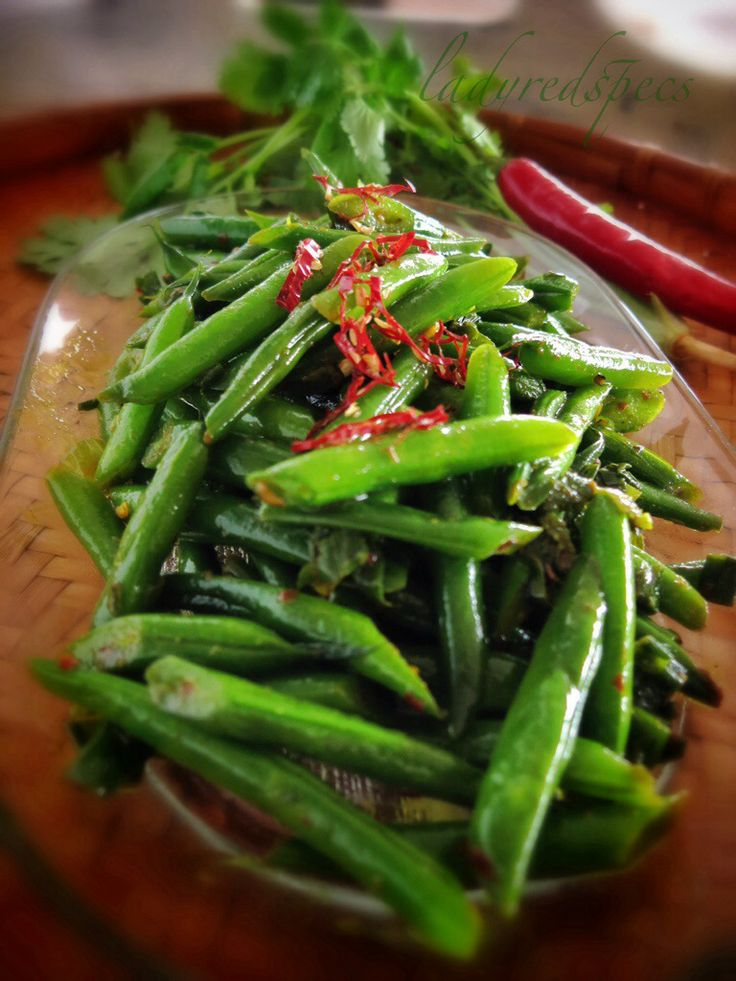 Dry green bean curry