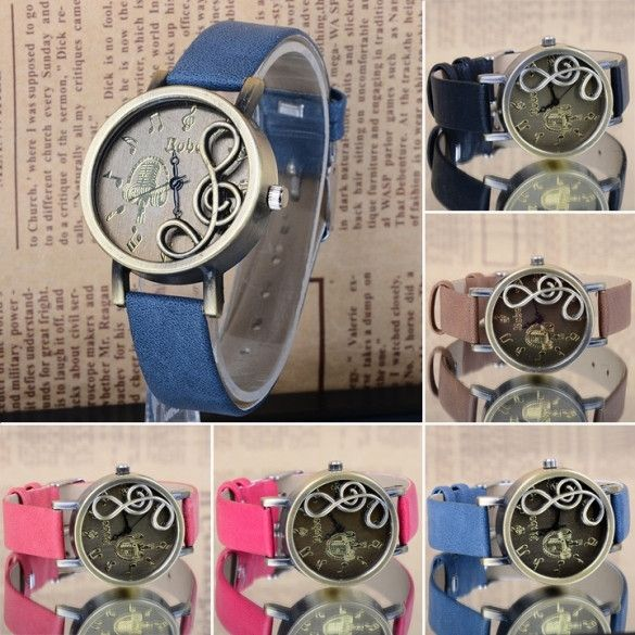 Classic Synthetic Leather Ladies Wrist Watch Dress Watch