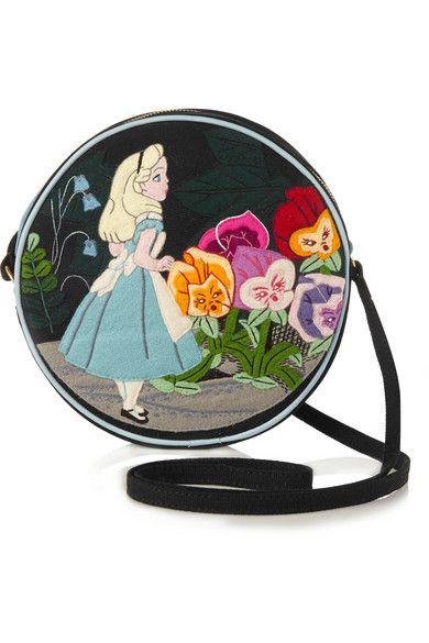 Alice in Wonderland applique shoulder bag.