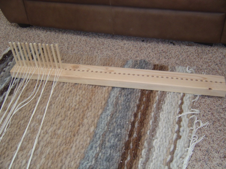 Peg Loom With Ing Wide Enough To Weave Up A 3 Rug Dowels Works Perfectly Our Beautiful Core Spun Alpaca Yarns
