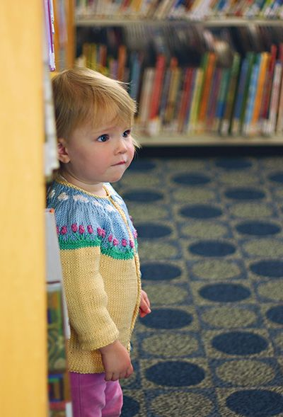 Free Knitting Patterns For Spring Sweaters : Free Knitting Pattern - Toddler & Childrens Clothes: Spring Picnic Cardig...