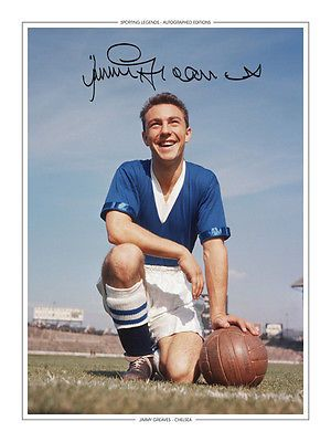 • HAND SIGNED 16x12 PHOTO EDITION CHELSEA 1957 JIMMY GREAVES
