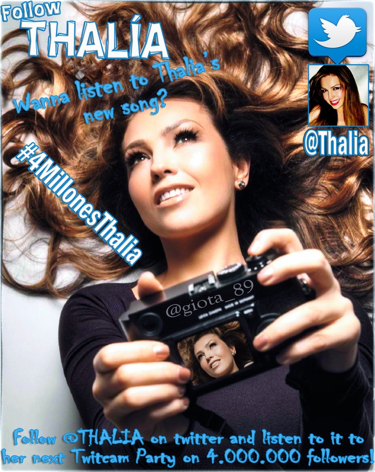 #Follow @Lady T on twitter!!! ----> @Thalia
