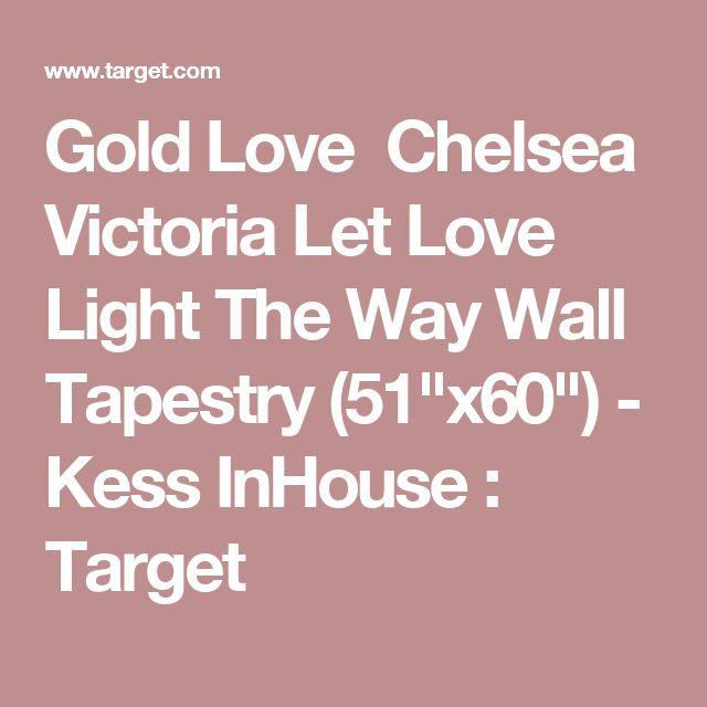 """Gold Love Chelsea Victoria Let Love Light The Way Wall Tapestry (51""""x60"""") - Kess InHouse : Target"""