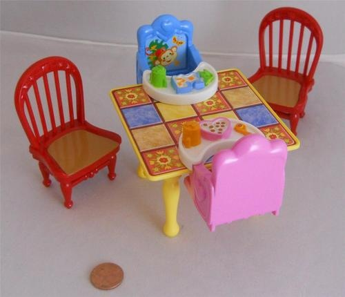 Fisher Price Loving Family Dollhouse Twin Time Kitchen Table