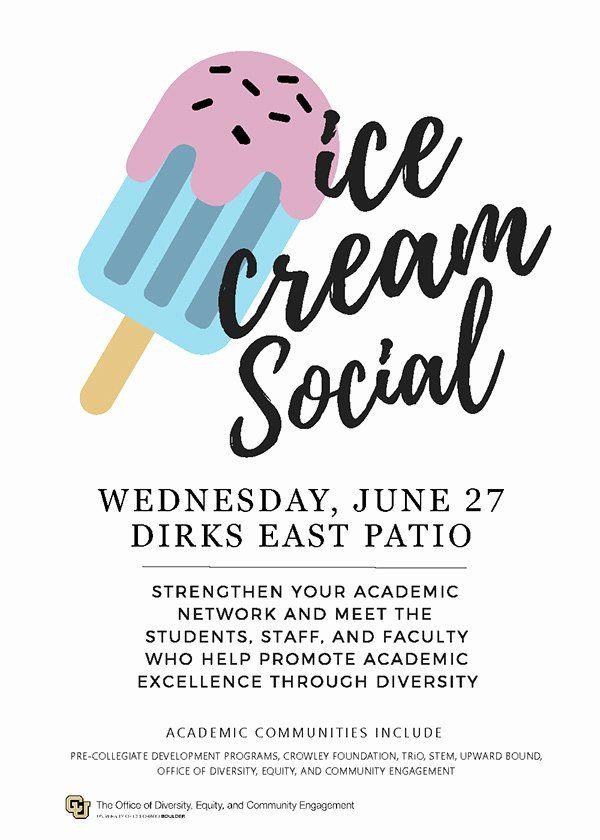 Ice Cream Social Flyer Beautiful Ice Cream Social Promotional Flyer On Behance Flyer Template Ice Cream Social Flyer