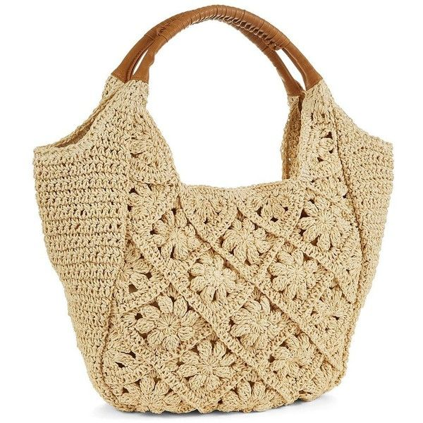 STRAW STUDIOS Crochet Hobo Bags ($57) ❤ liked on Polyvore featuring bags, handbags, shoulder bags, purses, natural, macrame handbags, hobo shoulder bag, beige purse, crochet purse and hobo shoulder handbags