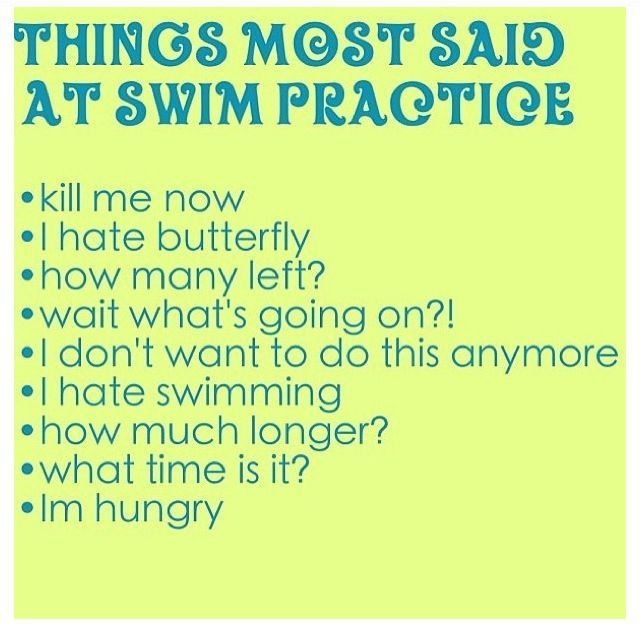 swimmers know..