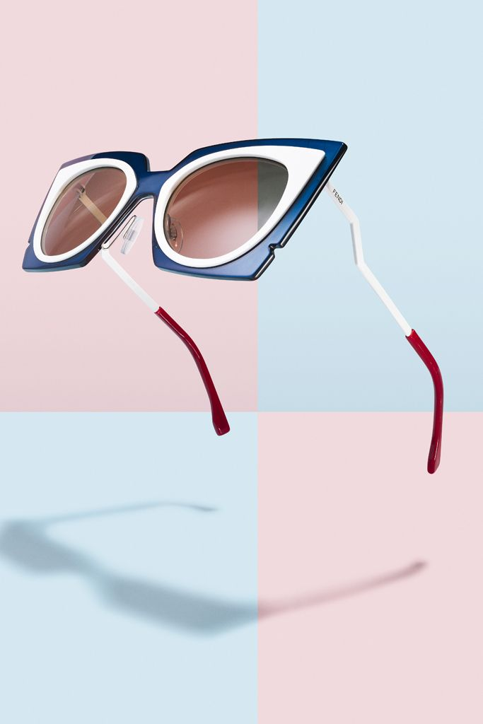 The extra rims on these Fendi sunglasses give the impression of wearing two frames in one.[Photo: Jonathon Kambouris]