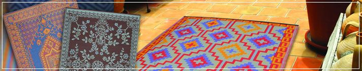 Recycled Plastic Outdoor Rugs... Stylish and environmentally friendly! We offer many of the most popular brands!