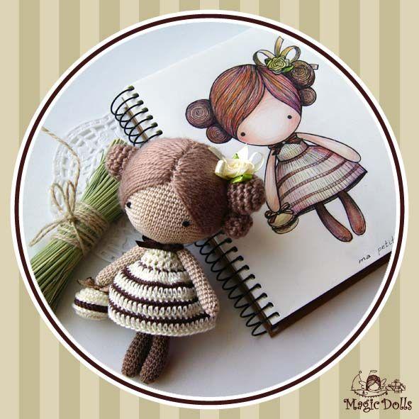Preciosa muñequita de ganchillo. Entrando en el blog vereis muchas más tan bonitas como esta.