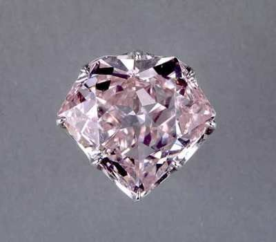hortensia diamond 20 Carats, a peach coloured stone, named after the Queen of Holland, the step-daughter of Napoleon Bonaparte. This gem is part of the French Crown Jewels and is  seen at the Louvre in Paris.