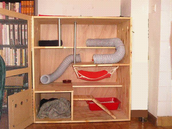 DIY Chinchilla Cage Wardrobe | la maison de votre furet - faire fabriquer sa cage par mes soins ...