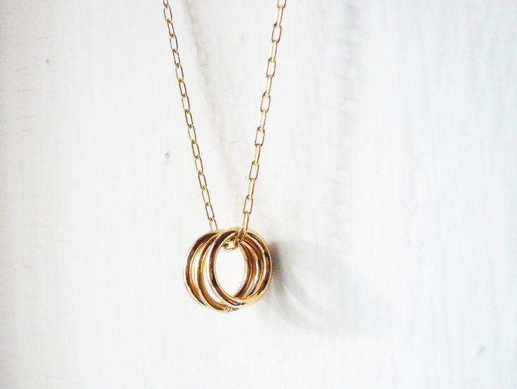 Triangle Circle Necklace - Light rose gold Cheap Monday PgXTr
