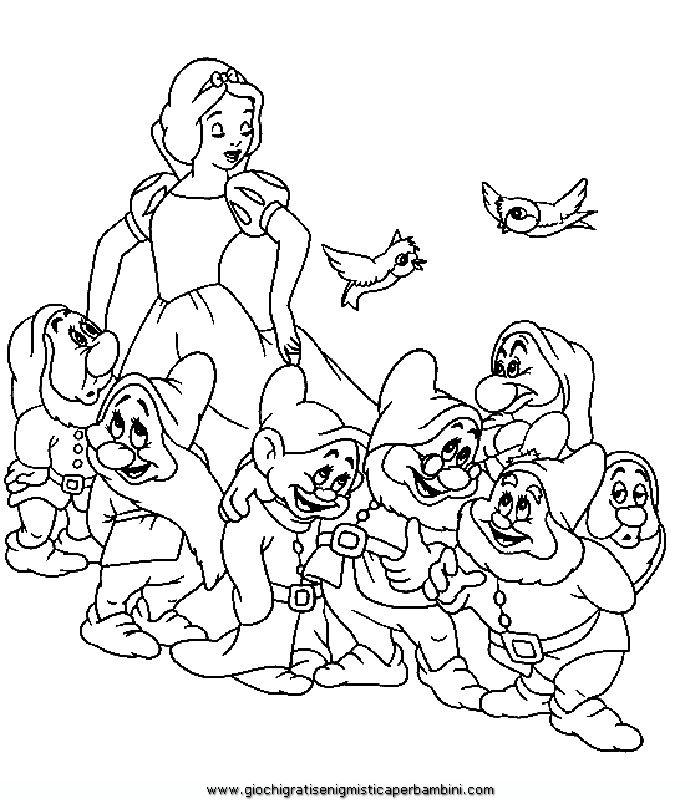 Biancaneve B5 Disegni Da Colorare Gratis Per Bambini Disegni Da