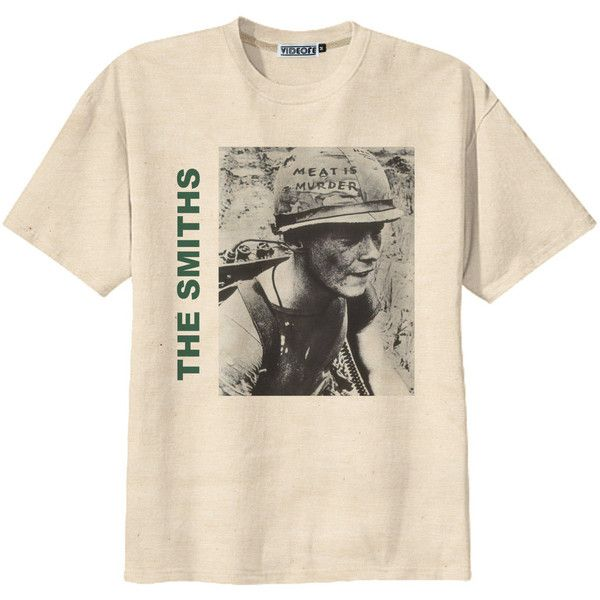 Retro The Smiths Album Cover Punk Rock T-Shirt Tee Organic Cotton... ($14) ❤ liked on Polyvore featuring tops, t-shirts, shirts, tees, holiday graphic tees, punk rock t shirts, holiday shirts, graphic tees and black shirt