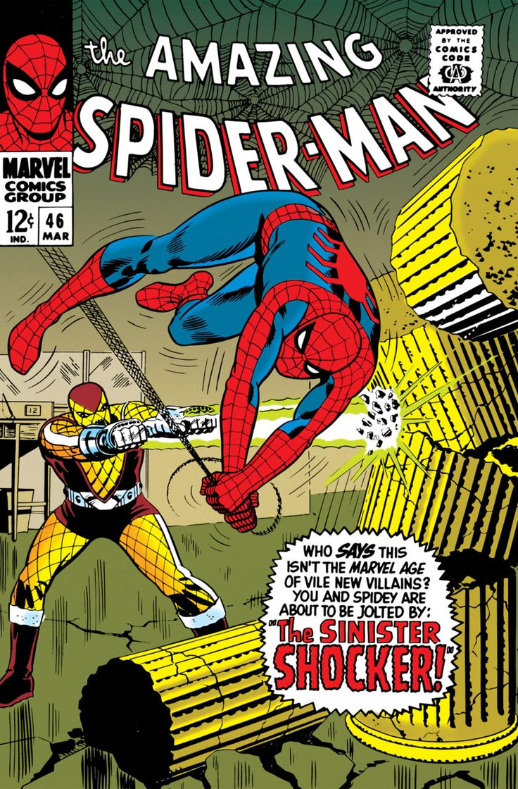 1st appearance of the Shocker, The Amazing Spider-Man #46 - The Sinister Shocker! (Issue)