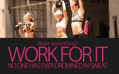 do like the 'no one has ever drowned in sweat' quote.