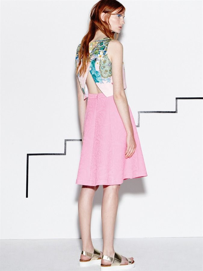 """Naughty Dog SS16 """"Hawaii"""" top and pink jacquard skirt! The perfect item for this hot Summer days!"""