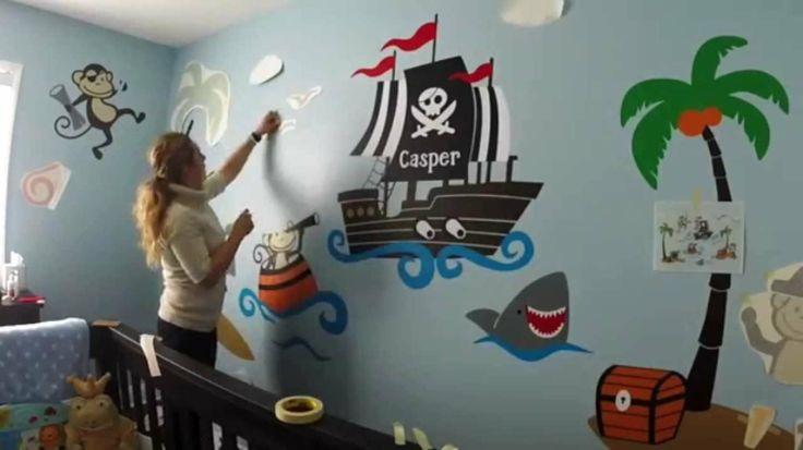 décoration murale chambre bébé pirates