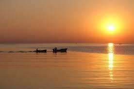 Uno splendido tramonto sul mare di Bibione