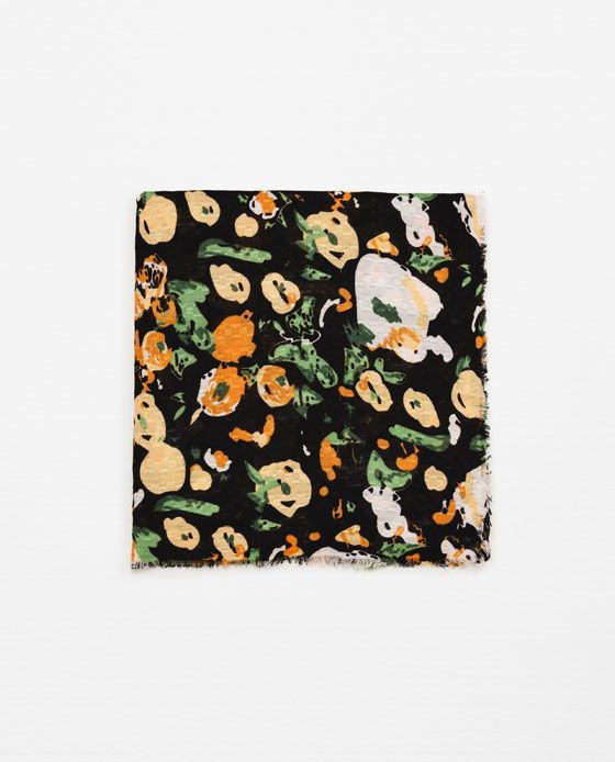 Image 1 of FLORAL PRINT SOFT SCARF from Zara