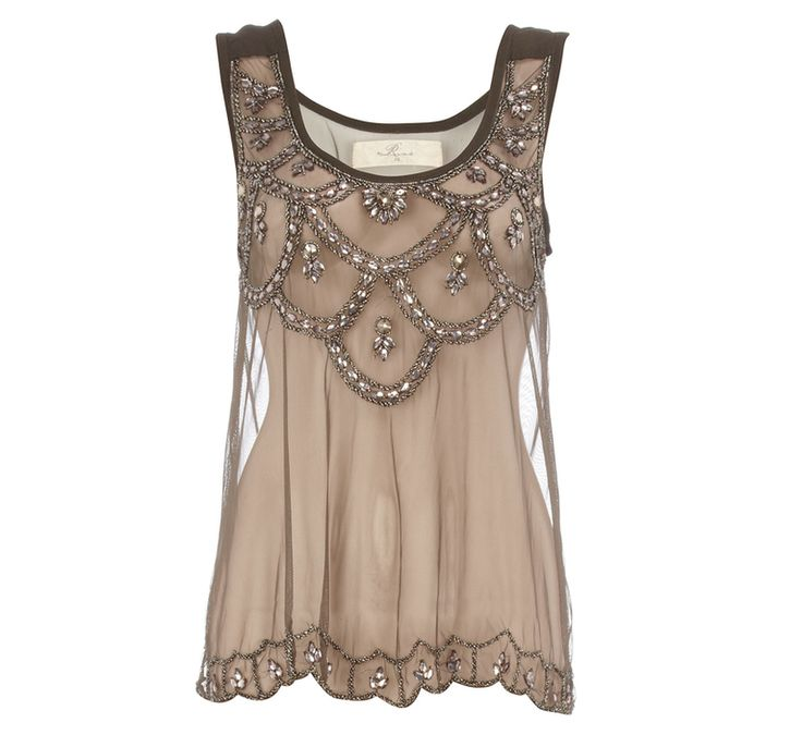 Gatsby Glamor- Brown Lace Top