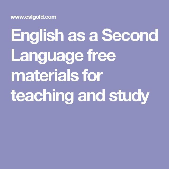 English as a Second Language free materials for teaching and study