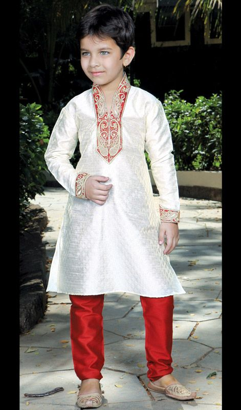 Poly Dupion Jacquard Kurta Payjama. Poly Dupion Jacquard Kurta Payjama.Keep Ahead In Fashion Race With This Readymade Kurta Payjama.  #BoysChuridarKurtaIndia #IndianKidsClothes
