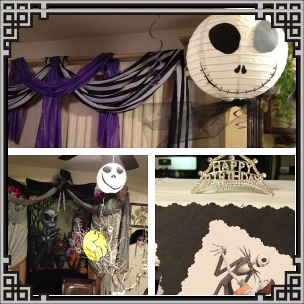 Nightmare Before Christmas Party Decorations Photograph