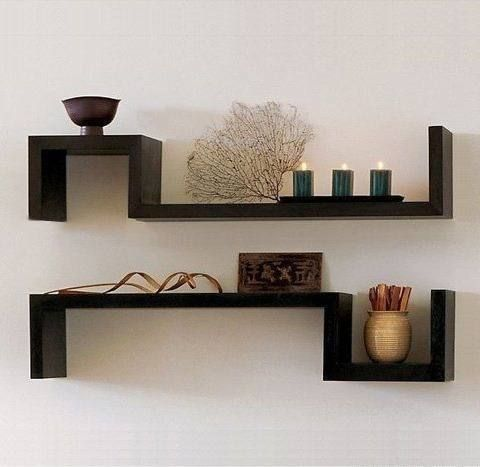 repisa minimalista flotante (forma s) fengshui reiki madera