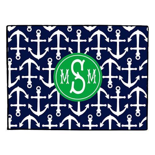 Door Mat, Nautical Doormat, Monogrammed Door Mat, Personalized Anchor Door  Mat, Coastal Welcome Mat