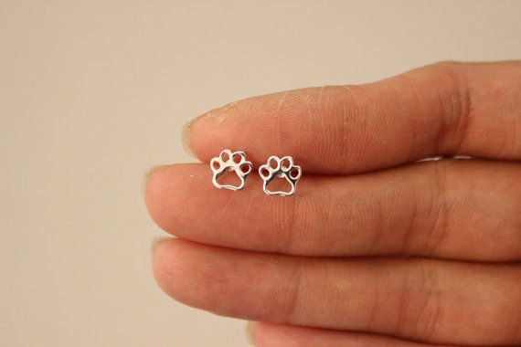 dog paw earrings by GreatJewelry4All